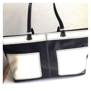 Hype Bags - Hype Black and White Leather Tote